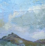 painting of hills and sky