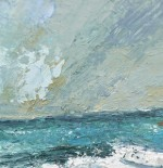 painting of ocean and sky