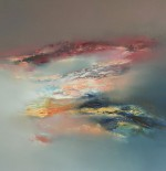 Oil Painting by Elaine Jones abstracted skyscape