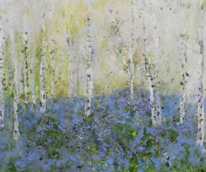 Painting by Sally Stafford Spring Light Shining