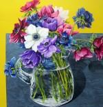 Anemone by John Grice 100cm x 100cm